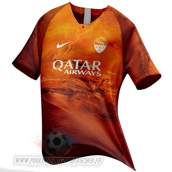 Maillot De Foot Personnalisé Nike Ea Sport Maillot AS Roma 2018 2019 Orange