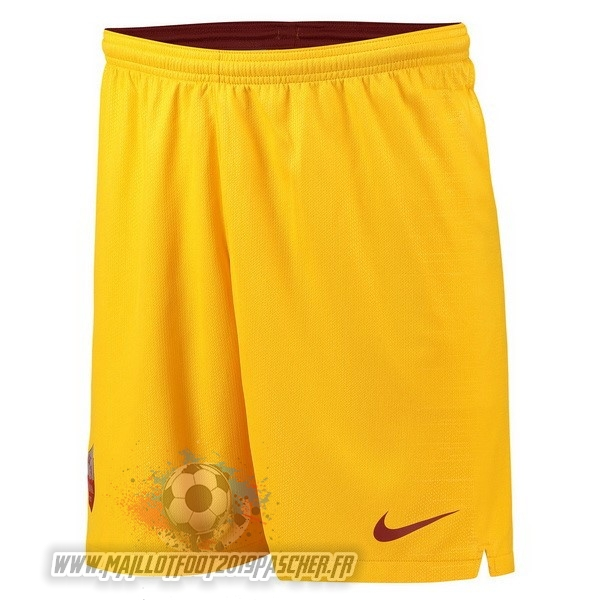 Maillot De Foot Personnalisé Nike Third Shorts As Roma 18-19 Jaune
