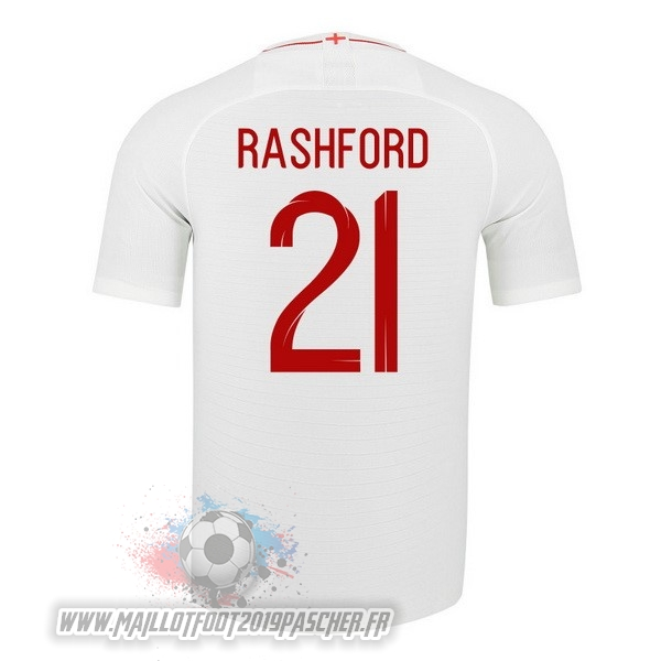 Maillot De Foot Personnalisé Nike NO.21 Rashford Domicile Maillots Angleterre 2018 Blanc
