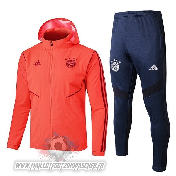 Maillot De Foot Personnalisé adidas Ensemble Coupe Vent Bayern Munich 2019 2020 Orange