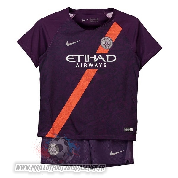 Maillot De Foot Personnalisé Nike Third Ensemble Enfant Manchester City 2018-2019 Purpura