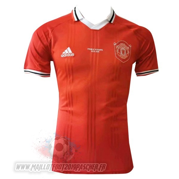 Maillot De Foot Personnalisé adidas Polo Manchester United 2019 2020 Rouge Blanc