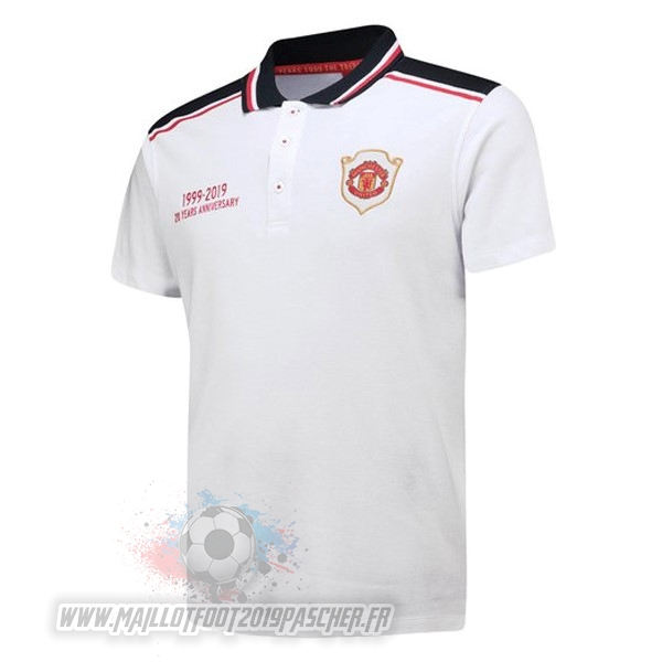 Maillot De Foot Personnalisé adidas Polo Manchester United 20th Blanc