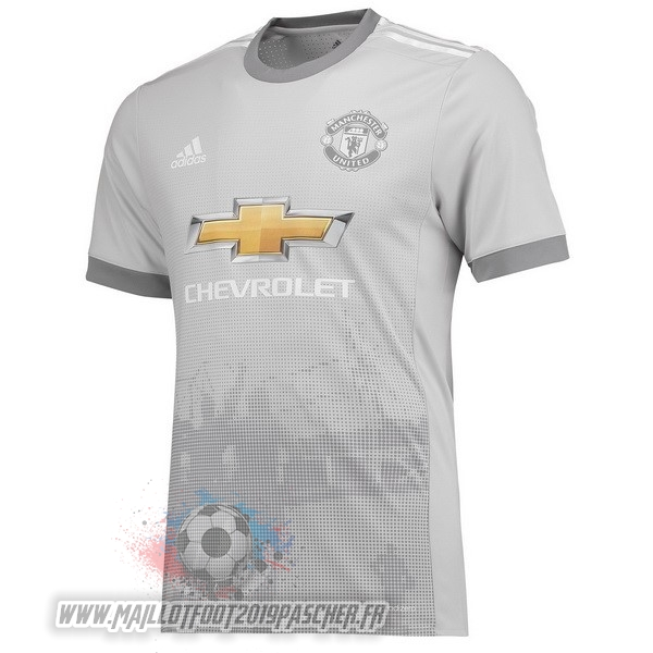 Maillot De Foot Personnalisé adidas Third Maillots Manchester United 2017 2018 Gris