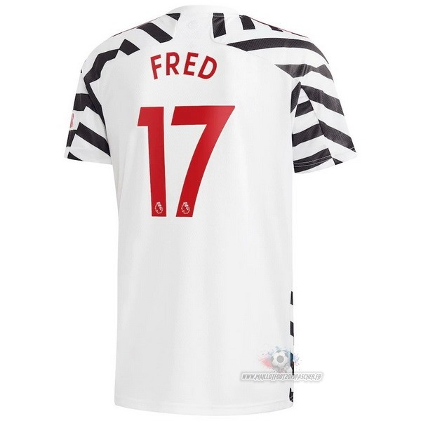 Maillot De Foot Personnalisé adidas NO.17 Fred Third Maillot Manchester United 2020 2021 Blanc
