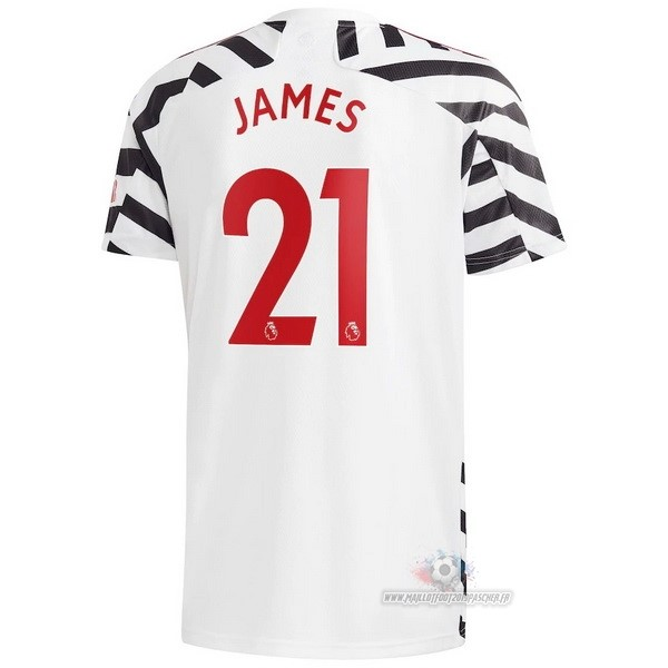 Maillot De Foot Personnalisé adidas NO.21 James Third Maillot Manchester United 2020 2021 Blanc