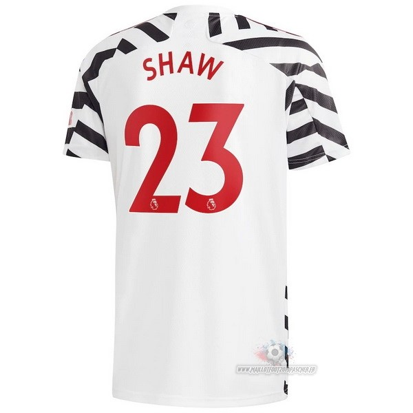 Maillot De Foot Personnalisé adidas NO.23 Shaw Third Maillot Manchester United 2020 2021 Blanc