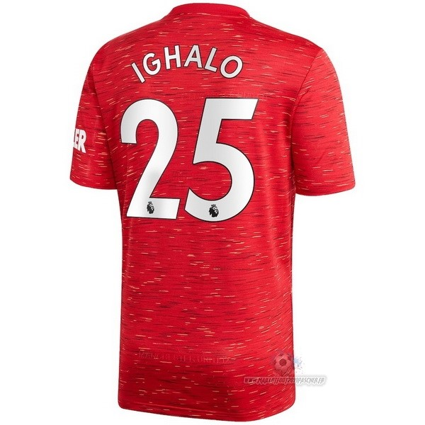 Maillot De Foot Personnalisé adidas NO.25 Ighalo Domicile Maillot Manchester United 2020 2021 Rouge