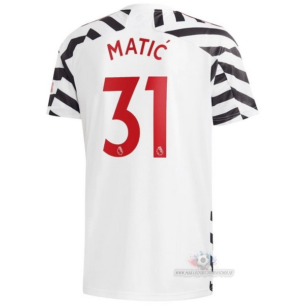 Maillot De Foot Personnalisé adidas NO.31 Matic Third Maillot Manchester United 2020 2021 Blanc