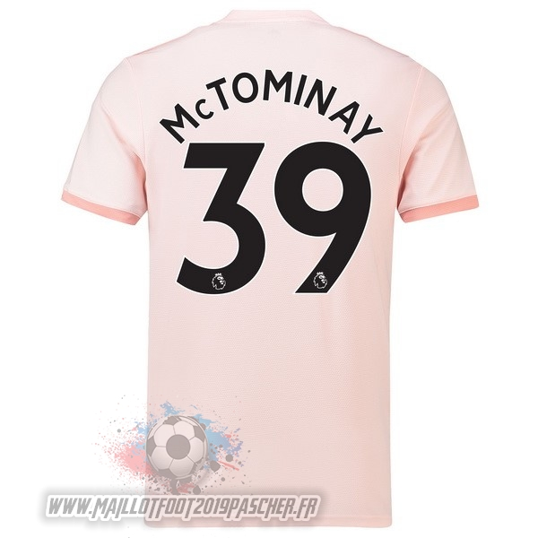 Maillot De Foot Personnalisé adidas NO.39 McTominay Exterieur Maillots Manchester United 18-19 Rose