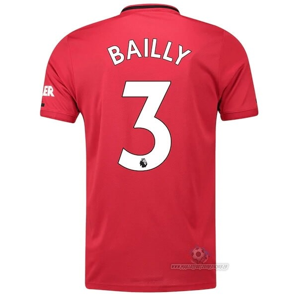 Maillot De Foot Personnalisé adidas NO.3 Bailly Domicile Maillot Manchester United 2019 2020 Rouge