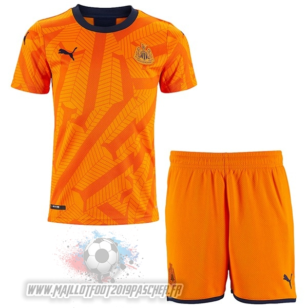 Maillot De Foot Personnalisé Puma Third Ensemble Enfant Newcastle United 2019 2020 Orange