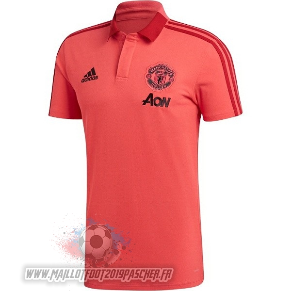 Maillot De Foot Personnalisé adidas Polo Manchester United 2018-2019 Rouge