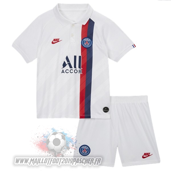 Maillot De Foot Personnalisé Nike Third Ensemble Enfant Paris Saint Germain 2019 2020 Blanc