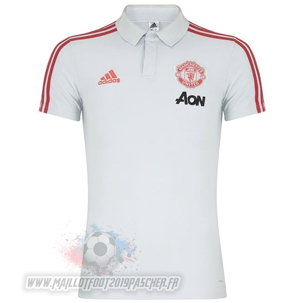 Maillot De Foot Personnalisé Adidas Polo Manchester United 2019 2020 Blanc