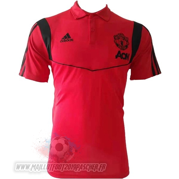 Maillot De Foot Personnalisé Adidas Polo Manchester United 2019 2020 Rouge