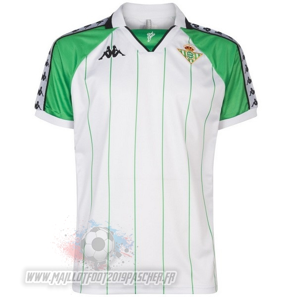 Maillot De Foot Personnalisé Kappa Maillot Real Betis Vintage 2018 2019 Blanc