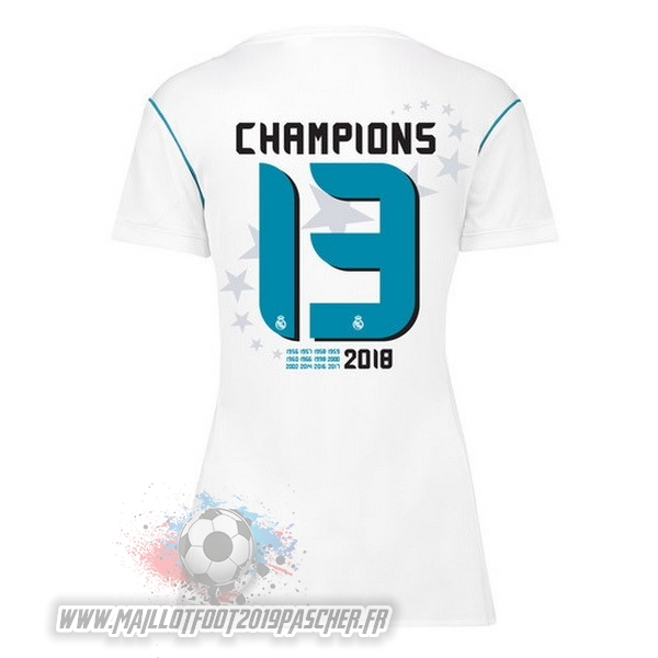 Maillot De Foot Personnalisé adidas Champions 13 Domicile Maillots Femme Real Madrid 2017 2018 Blanc