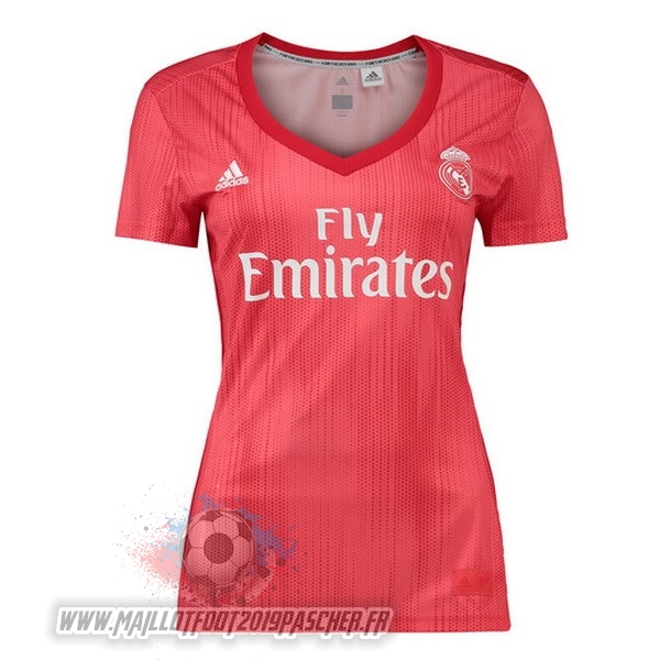 Maillot De Foot Personnalisé adidas Third Maillots Femme Real Madrid 2018-2019 Rouge
