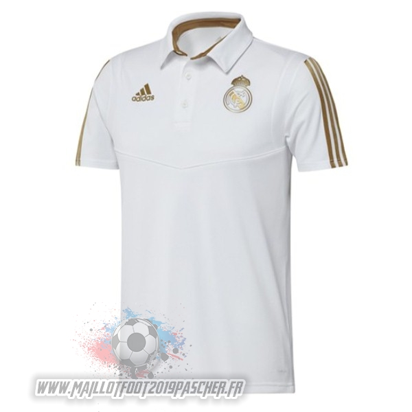 Maillot De Foot Personnalisé adidas Polo Real Madrid 2019 2020 Jaune Blanc