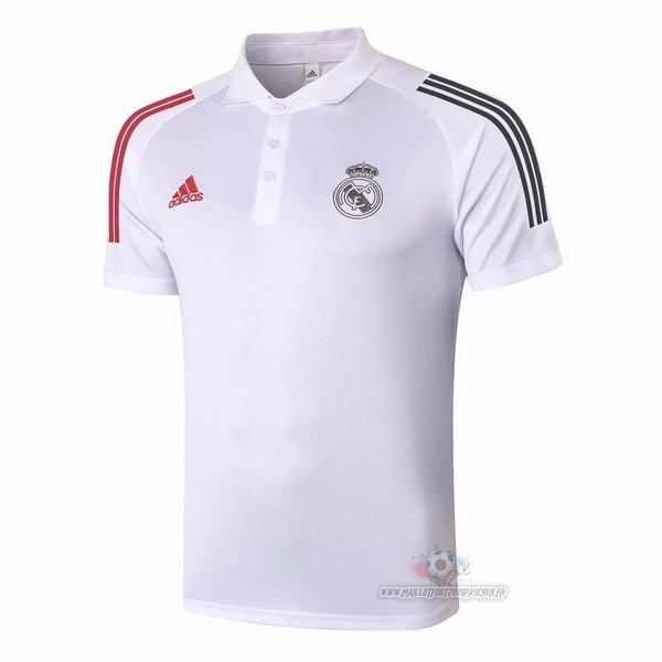Maillot De Foot Personnalisé adidas Polo Real Madrid 2020 2021 Blanc Rouge