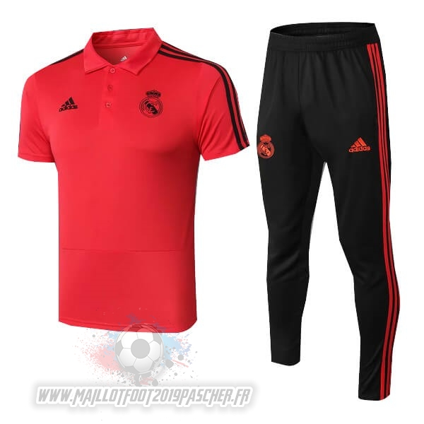 Maillot De Foot Personnalisé adidas Ensemble Polo Real Madrid 2018 2019 Rouge