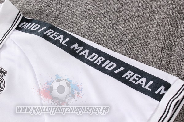 Maillot De Foot Personnalisé adidas Ensemble Polo Real Madrid 2019 2020 Blanc
