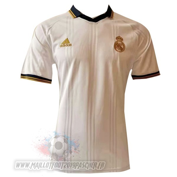Maillot De Foot Personnalisé adidas Polo Real Madrid 2019 2020 Blanc Jaune