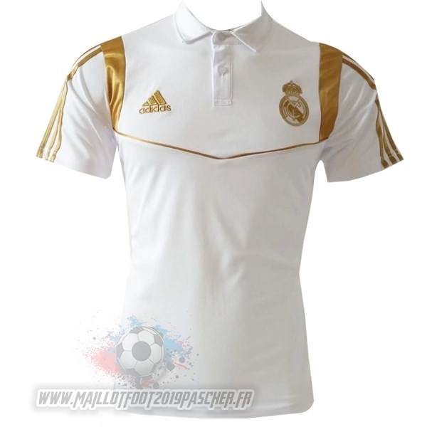 Maillot De Foot Personnalisé adidas Polo Real Madrid 2019 2020 Blanc Or
