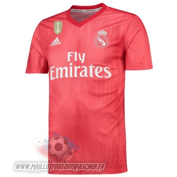 Maillot De Foot Personnalisé adidas Third Maillots Real Madrid 2018-2019 Rouge