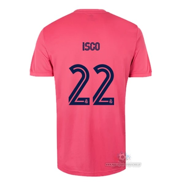 Maillot De Foot Personnalisé adidas NO.22 Isco Exterieur Maillot Real Madrid 2020 2021 Rose