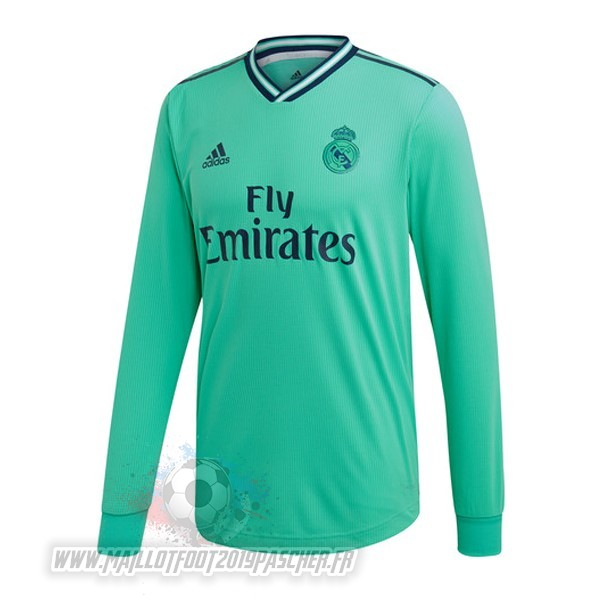 Maillot De Foot Personnalisé adidas Third Manches Longues Real Madrid 2019 2020 Vert