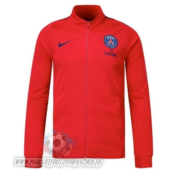 Maillot De Foot Personnalisé Nike Veste Paris Saint Germain 2017 2018 Rouge